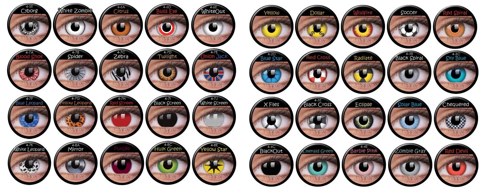 Krycí kontaktní čočky Crazy vhodné na Halloween!